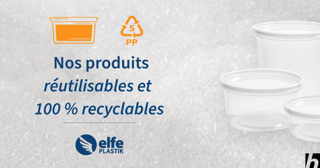 Combattre les déchets par nos produits réutilisables et 100 % recyclables